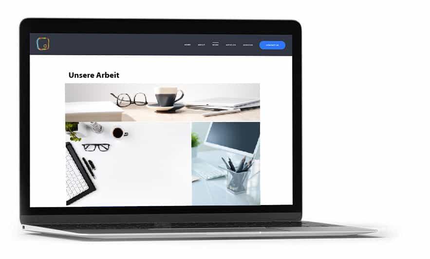 Wir erstellen schöne Webseiten.