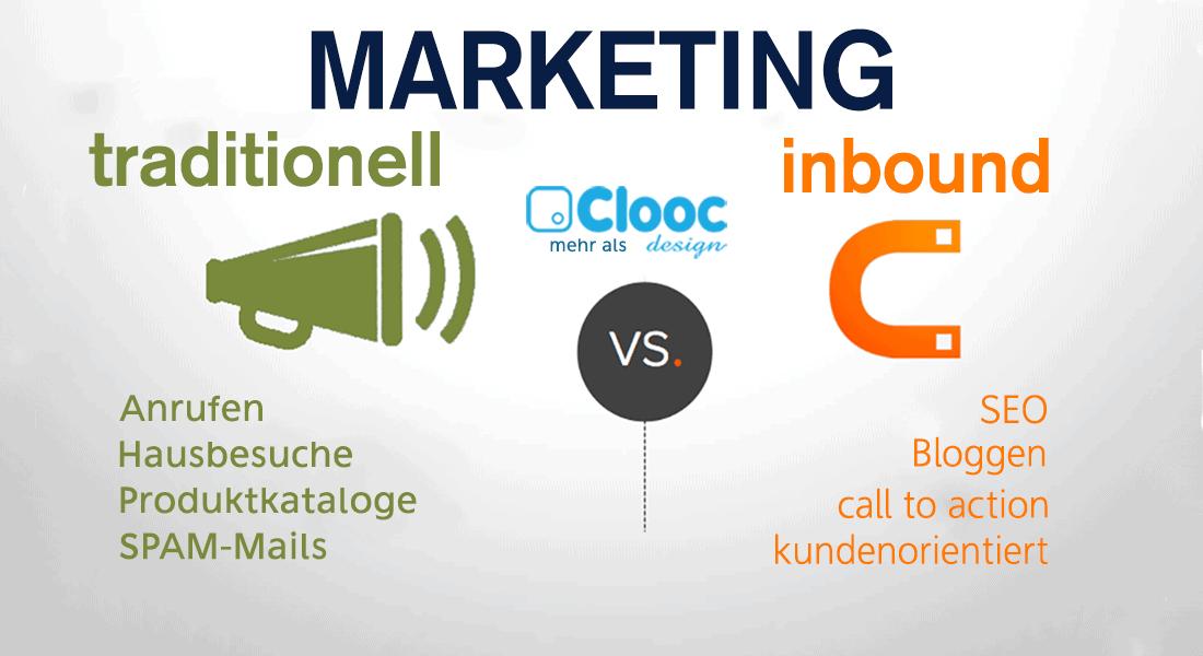 Der Unterschied zwischen traditionellem- und Inbound Marketing